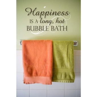 Happiness is a long hot bubble bath luxeloft at Etsy.com